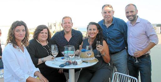 Eva Perea, Lolo, Paco, Raquel y Quico Soler y Manuel Cáceres.