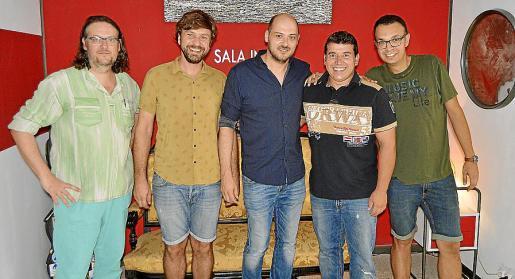 Toni Andreu Ferriol, Mateu Palou, Jaume Coll, Joan Pol y Toni Joan Llompart.