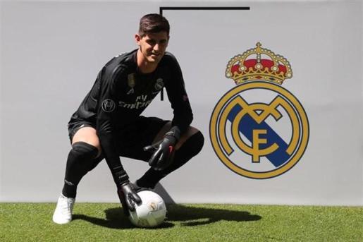 Courtois ha sido presentado este jueves como nuevo portero del Real Madrid.