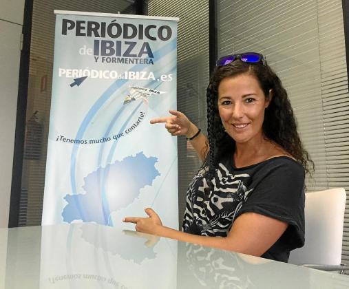 Isabel Morante 'Coco' posa en un despacho de las instalaciones de Grupo Prensa Pitiusa.