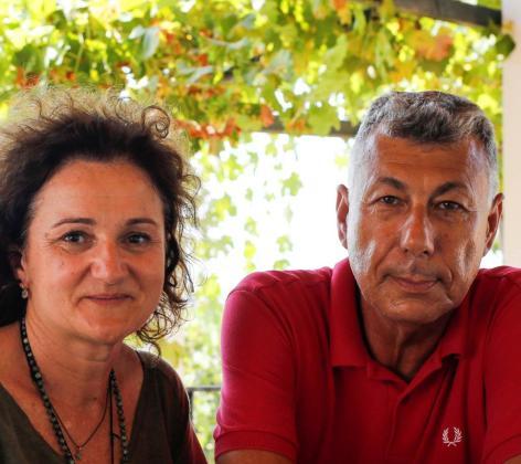 Stela González y Joan Riera, propietarios de Can Rich