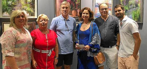 Cati Gelabert, Concha Camarena, Antonio Pena, Irene Makinstry, Gustavo Ginard y Alejandro Ginard.