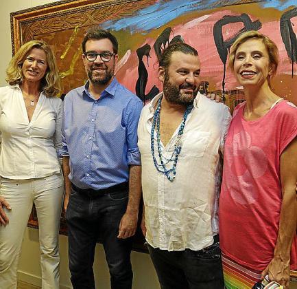 Renate Pentzien, Antoni Noguera, Domingo Zapata y Ágata Ruiz de la Prada.