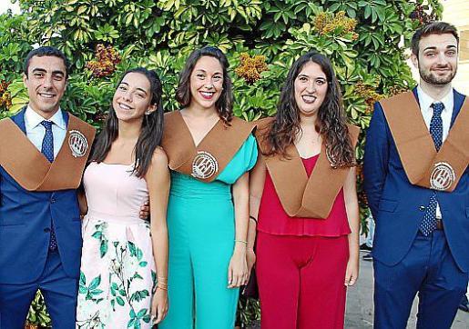 Alejandro y Sofía El Bazi, Irene Grau, Marta Amer y Marc Garí.