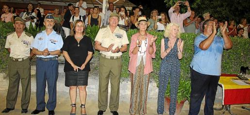 Jaime Galera, Manuel Aroca Corbalán, Fanny Tur, Juan Cifuentes, la infanta doña Elena de Borbón, Lidia Pérez y Adolfo García.