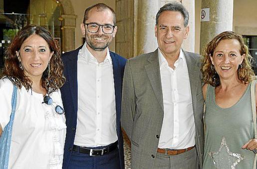 Pepa Ramis, Juli Dalmau, Xavier Ramis y Antònia Sabater.