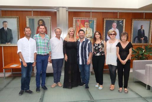 Representantes de la Moda Adlib y Moda Mar del Plata en la rueda de prensa celebrada en el Consell d'Eivissa