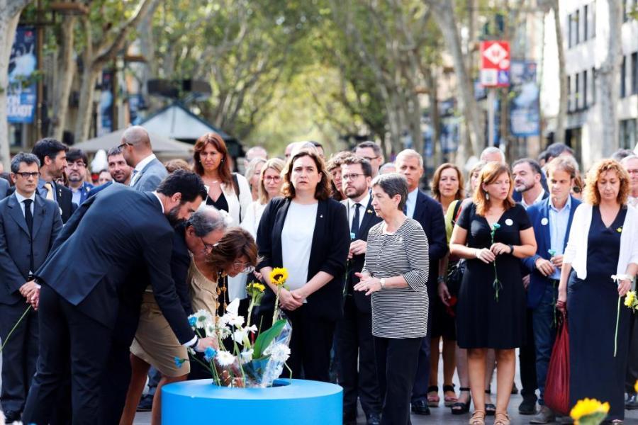 Primer aniversario de los atentados en Cataluña