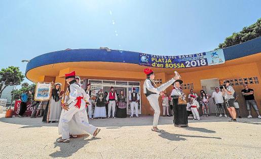 Las fiestas patronales de Platja d'en Bossa empezaron con muchas actividades.