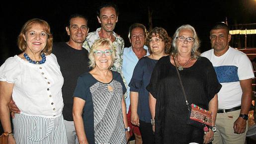 María Antonia Llaneras, Toni Durán, Marga Suau, Bernat Bosch, Sebastián Cánovas, Xisca Bosch, Antonia Palmer y Herney Hernández.