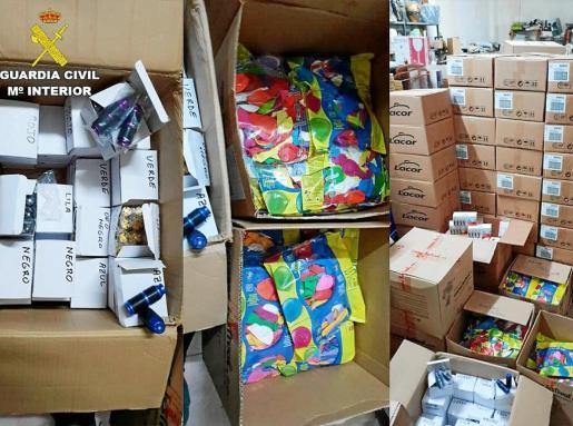 Imagen del abundante material intervenido por la Guardia Civil en el dispositivo realizado el pasado 30 de julio.