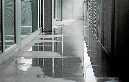 Imagen de archivo de las goteras que sufrió el Conservatorio en enero.
