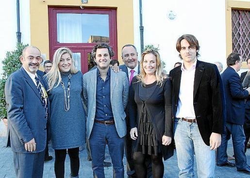 Alfons Moll, Marita Pol, Pere Rullán, Jesús Boyero, Catalina Pol y Pau García.