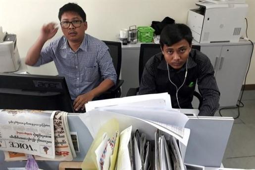 Reclaman la liberación de dos periodistas de Reuters condenados en Birmania.