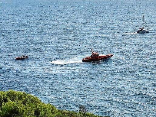 Imagen del operativo de búsqueda que loCalizó el cuerpo sin vida de Denis en la zona de s'Illa Grossa.