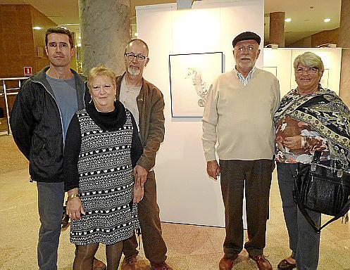 Marcos Molina, Miguel Aguiló y su esposa, Manuela González, Guillem Cañellas y Catalina Oliver.
