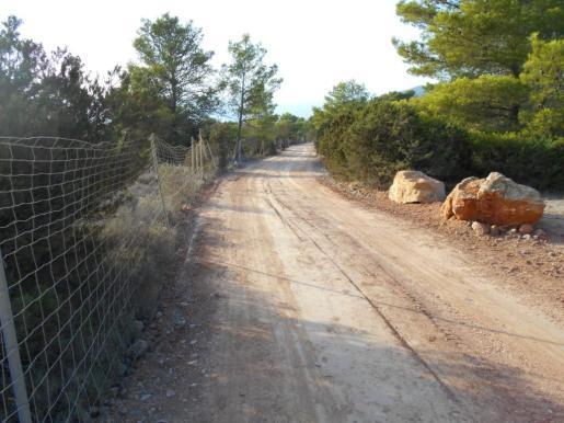 Imagen del camino de Can Guimó ya acondicionado.