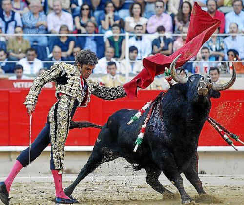 El torero José Tomás durante una corrida de toros.