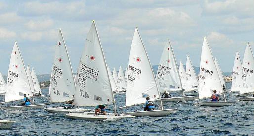 Imagen del Trofeo Illes Balears de la clase Laser 4.7 celebrado en Palma.