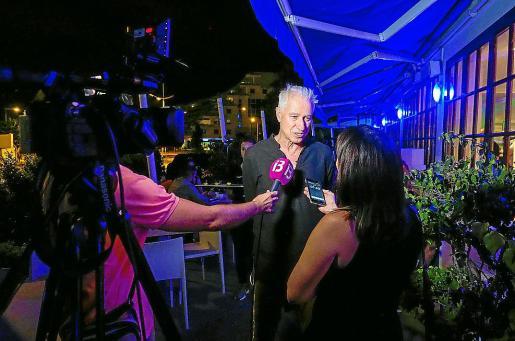 José Pascual, fundador de los Dj Awards, en el cóctel con los medios de comunicación.