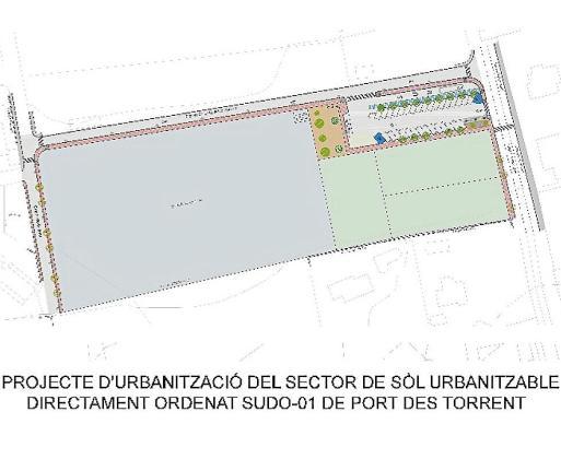 Imagen del plano de la futura escuela que ocupará un terreno de 1.800 metros cuadrados.