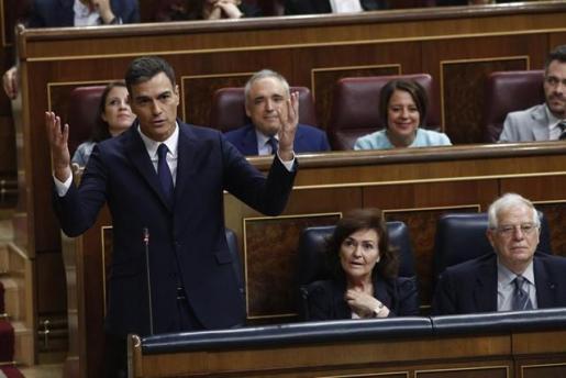 Imagen de Pedro Sánchez en el Congreso.