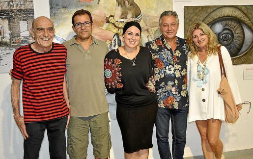 Pep Banyo, Miquel Ramon, Natu Dumrauf, Xisco Barceló y Teresa Ponseti.