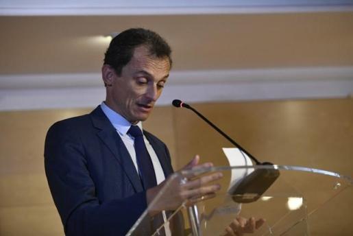 Pedro Duque, durante su comparecencia ante los medios.