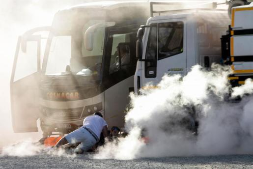 El ejercicio simuló un caso de accidente múltiple con contaminantes y explosivos