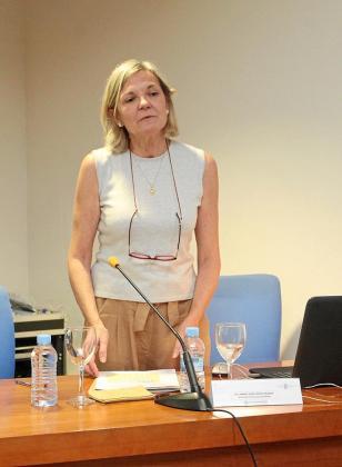 López Grande durante su primera conferencia ayer por la tarde en Ibiza.