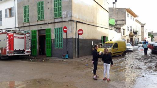 Imagen de Sant Llonreç un día después de la tormenta.