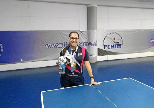 La chilena Judith Morales durante un torneo en su país.