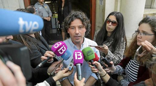 El gurú de Més, Jaume Garau, tras declarar ante el juez el pasado mes de abril.