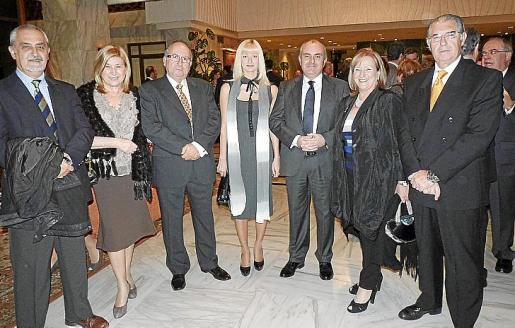 Francisco Martínez Espinosa, Marilén Brusoto, Biel Villalonga, Elena Yatseva, Francisco Navarro, Margarita Riutort y Antonio Comas.