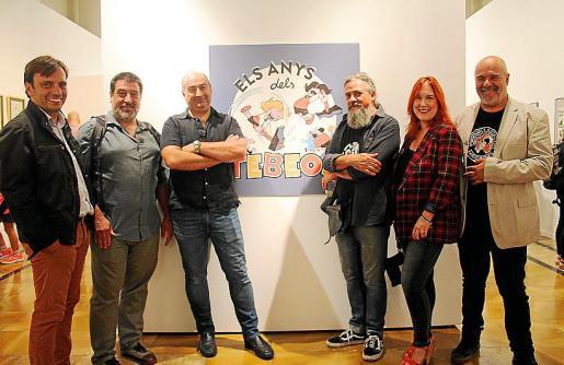 Francesc Miralles, Jesús Jurado, Jaume Vaquer, Max, Laura Durán y Rafel Vaquer.