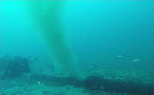 Imagen de archivo de un vertido de aguas fecales por la rotura del emisario de la depuradora de Can Bossa.
