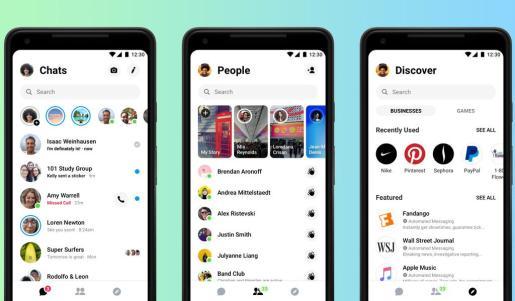 Messenger 4, la nueva versión de la aplicación de Facebook, presenta un diseño simplificado.