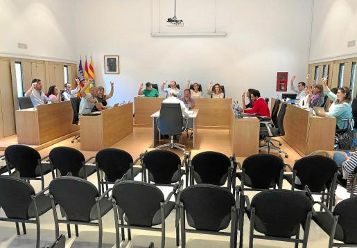 Instante del pleno de Formentera celebrado ayer.