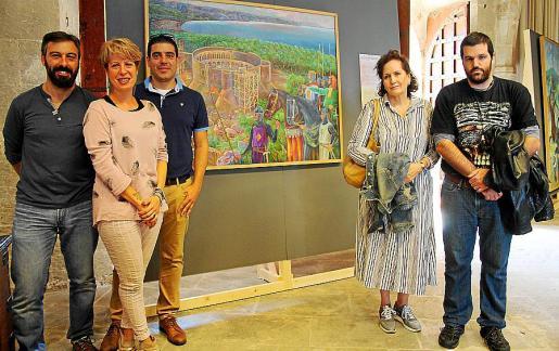 Pep Lluís Llabrés, Arantxa Gallego, Txema Álvarez, Pilar Ribal y Pau Ribal.