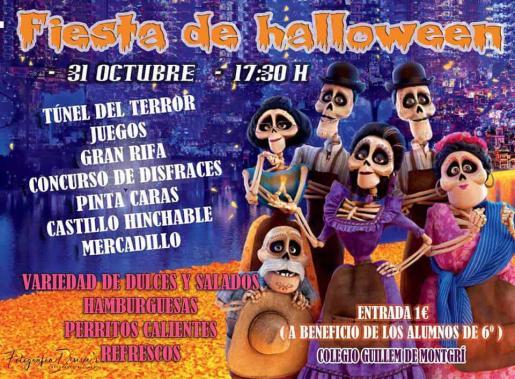 Fiesta infantil de Halloween en el CEIP Guillem de Montgrí.