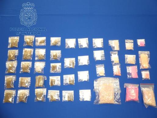 Material incautado por la Policía Nacional.
