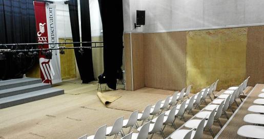 La instalación se ha ido deteriorando debido a las filtraciones que han ocasionado las goteras.