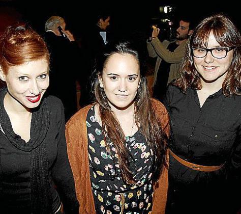 Arianna Salvador, Marta Morey y Olga Galcerán.