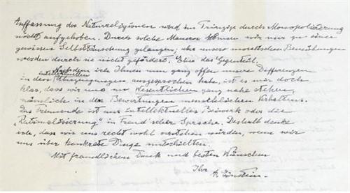 A subasta la 'Carta de Dios' de Einstein por 1,3 millones de euros.