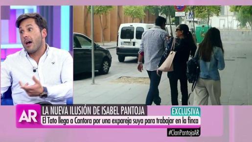 Imagen del programa de Ana Rosa en el que se muestra a Isabel Pantoja con El Tato.
