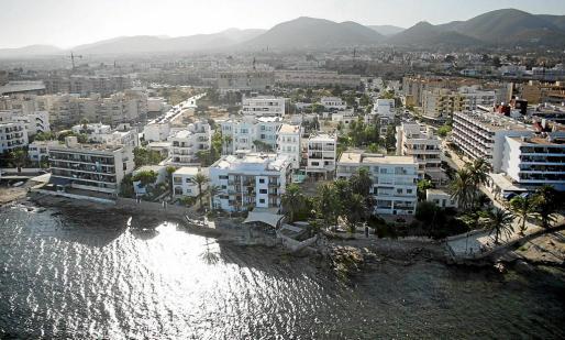 Vista aérea del barrio de es Viver, en la ciudad de Ibiza.