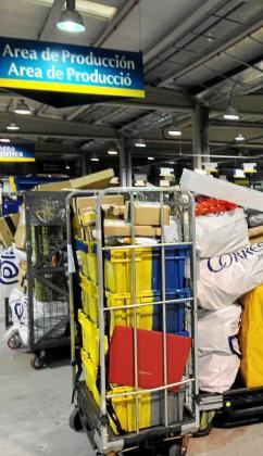 El Centro de Tratamiento Automatizado (CTA) con que cuenta Correos en el Polígono de Can Valero se encuentra en plena actividad.