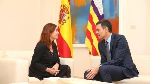 Sánchez se reúne con Armengol dentro de la ronda de reuniones.
