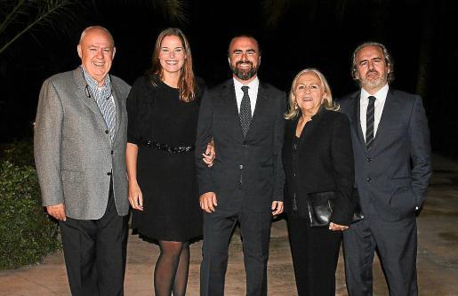 Jaume Riera, Louise Martens, Pep Riera, Tin Simonet y Kike Riera.