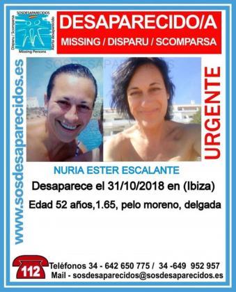 La mujer está en paradero desconocido desde el 31 de octubre.